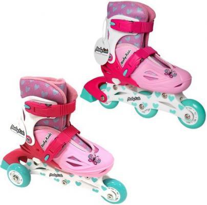 Купить Коньки роликовые 2в1 Moby Kids пласт.осн., р.30-33 641002, 30, 31, 32, 33, для девочки, Детские ролики