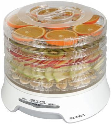 Сушилка для овощей и фруктов Supra DFS-522 белый прозрачный
