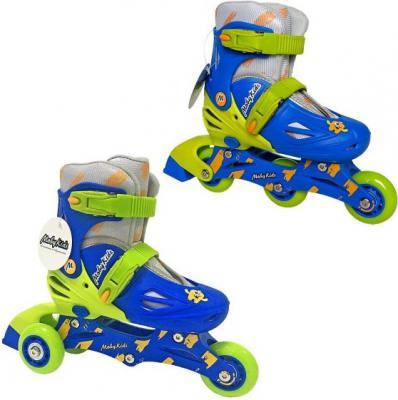 Купить Коньки роликовые 2в1 Moby Kids пласт.осн., р.30-33 641004, 30, 31, 32, 33, для мальчика, Детские ролики