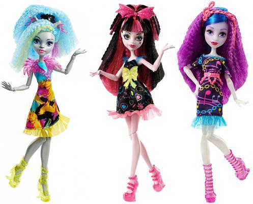 Кукла Monster High Неоновые монстряшки из серии Под напряжением в асс-те