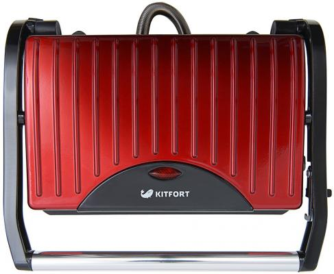 Картинка для Сэндвичница KITFORT Panini Maker KT-1609 красный чёрный