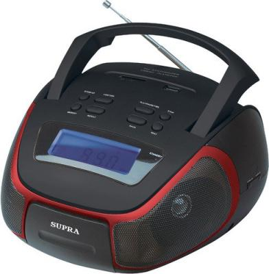 Магнитола Supra BB-25MUS черный/красный телефон supra stl 111 белый
