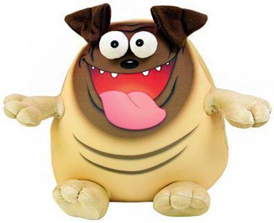 Антистрессовая игрушка котенок СПИ Крэйзи Мопс текстиль полиэстер бежевый коричневый 20 см