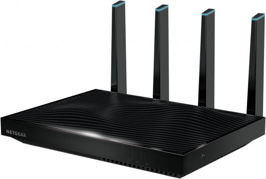 Беспроводной маршрутизатор NetGear R8500-100PES 802.11abgnac 5332Mbps 5 ГГц 2.4 ГГц 6xLAN USB черный беспроводной маршрутизатор netgear r7100lg 100eus 802 11aс 1900mbps 5 ггц 2 4 ггц 4xlan usb черный