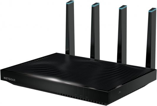 Беспроводной маршрутизатор NetGear R8500-100PES 802.11abgnac 5332Mbps 5 ГГц 2.4 ГГц 6xLAN USB черный