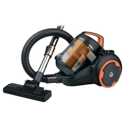 Пылесос Vitek VT-8125 BK сухая уборка чёрный оранжевый выпрямитель волос vitek vt 8402 bk 35вт чёрный