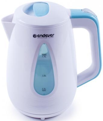 Чайник ENDEVER 363-KR 2100 Вт белый голубой 1.7 л пластик