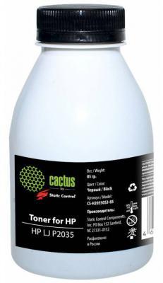 Тонер Cactus CS-H2055OS3-85 для HP LJ P2035 черный 85гр картридж hp ce505a для lj 2035 2055 2300стр
