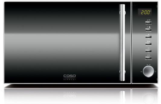 цены  СВЧ CASO MG20 Ceramic Menu 800 Вт чёрный серебристый