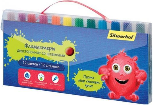 Набор фломастеров Silwerhof 867210-12 2 мм 12 шт разноцветный