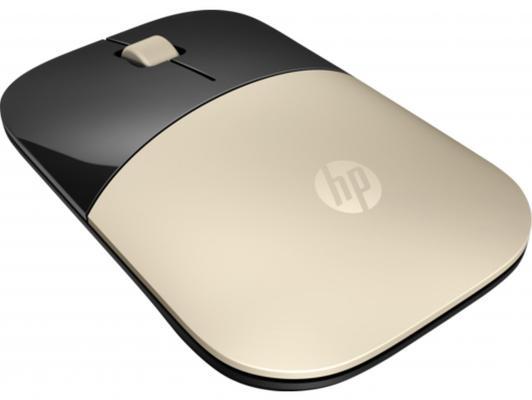 Мышь беспроводная HP Z3700 золотистый чёрный USB мышь беспроводная hp 200 silk золотистый чёрный usb 2hu83aa