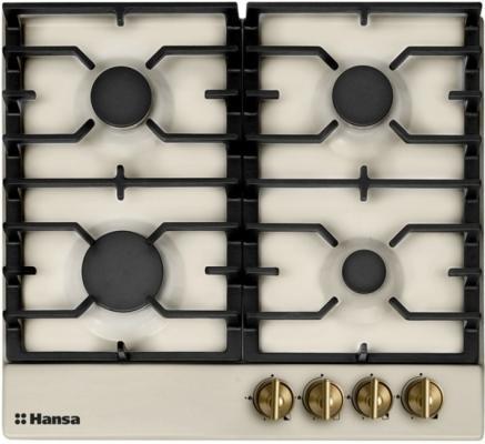 Варочная панель газовая Hansa BHGY61059 бежевый варочная панель газовая smeg srv864pogh бежевый
