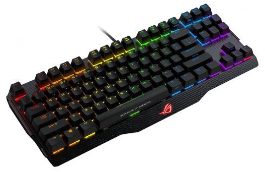 Клавиатура проводная ASUS M802 CLAYMORE CORE/BK/RU USB черный 90MP00I3-B0RA00 клавиатура mp 09a33su 5282