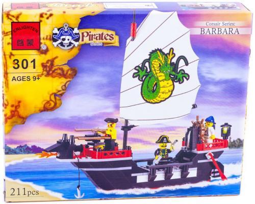 Купить Конструктор BRICK Пиратский корабль СОБРАН 211 элементов 301, Пластмассовые конструкторы