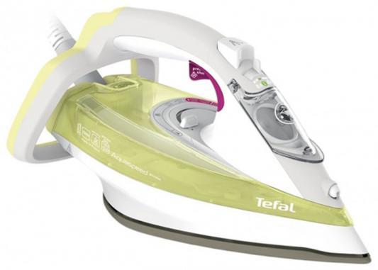 Утюг Tefal FV5510E0 2500Вт зелёный белый утюг tefal turbo pro fv5630e0