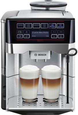 Кофемашина Bosch TES60729RW черный серебристый цена и фото