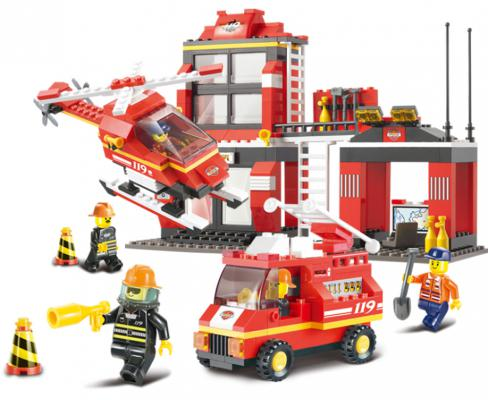 Конструктор Sluban серии Пожарный, Пожарная диспетчерская станция, 371 дет. M38-B0225 конструктор sluban трансформер 264 дет m38 b0213