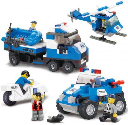 Конструктор Sluban серии Полиция, Полицейский спецназ, 403 дет. M38-B0190 цена
