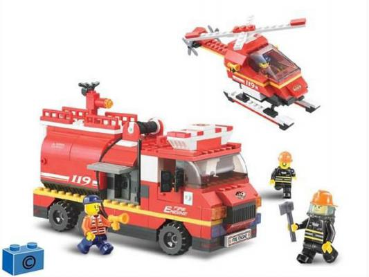 Конструктор SLUBAN Пожарная служба 409 элементов M38-B0222 конструктор sluban red cliff крепость скала 445 элементов m38 b0265