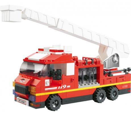 Конструктор SLUBAN Пожарные спасатели - Грузовик с выдвижной лестницей 267 элементов M38-B0221 конструктор металлический грузовик и трактор 345 элементов