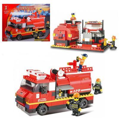 цена на Конструктор SLUBAN Пожарные спасатели - Машина 281 элемент M38-B0220