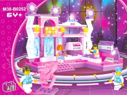 Купить Конструктор SLUBAN Розовая мечта - Сцена с певицей в розовом 176 элементов M38-B0252, Пластмассовые конструкторы