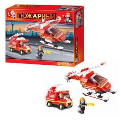 Конструктор Sluban серии Пожарный, Пожарные спасатели, 211 дет.