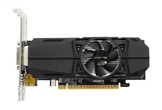 Видеокарта 2048Mb Gigabyte GeForce GTX1050 PCI-E 128bit GDDR5 DVI HDMI DP HDCP GV-N1050OC-2GL Retail видеокарта palit geforce gtx1050 ti dual 4g ne5105t018g1 4096mb 1290mhz nvidia gtx1050 ti gddr5 7000mhz 128 bit pci e dvi dp hdmi