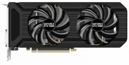 Видеокарта 8192Mb Palit GeForce GTX1080 Dual OC 8G PCI-E 256bit GDDR5X DVI HDMI DP HDCP NEB1080U15P2-1045D Retail