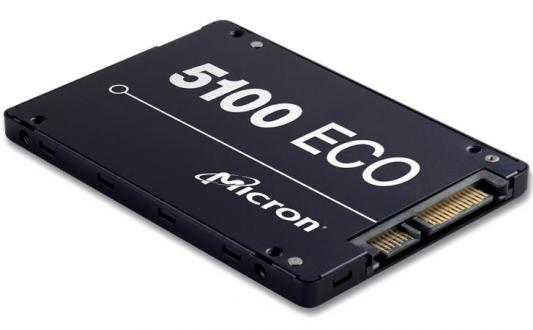 Твердотельный накопитель SSD 2.5 480Gb Crucial Micron 5100ECO Read 540Mb/s Write 520Mb/s SATAIII MTFDDAK480TBY-1AR1ZABYY твердотельный накопитель ssd m 2 64gb transcend mts600 read 560mb s write 310mb s sataiii ts64gmts600