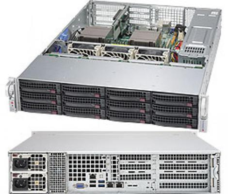 Серверная платформа Supermicro SYS-6028R-T + 2 SNK-P0048PS