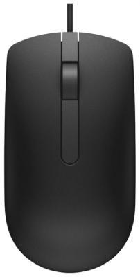 лучшая цена Мышь проводная DELL MS116 чёрный USB
