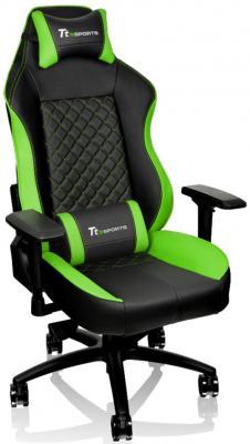 Кресло компьютерное игровое Thermaltake GT Comfort C500 черно-зеленый GC-GTC-BGLFDL-01 гарнитура tt esports by thermaltake cronos rgb 7 1 ht cro diecbk 21