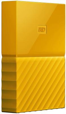 "Внешний жесткий диск 2.5"" USB3.0 1 Tb Western Digital My Passport WDBBEX0010BYL-EEUE желтый"