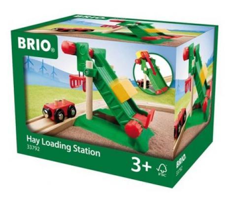Набор Brio «погруз.станция для сена на магнитах с вагончиком,11х13х11см,кор.»