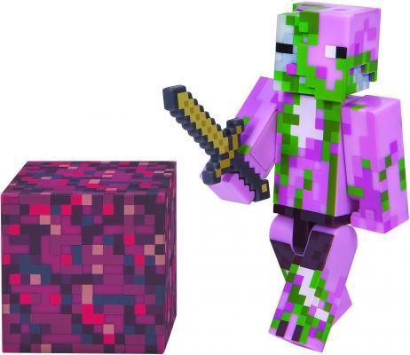 Игровой набор Minecraft Зомби-свиночеловек с аксессуарами набор игровой c фигуркой и аксессуарами minecraft зомби