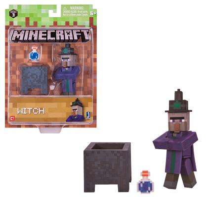 Игровой набор Minecraft Ведьма с аксесс. 3 предмета чушковой чугун с моб резерва