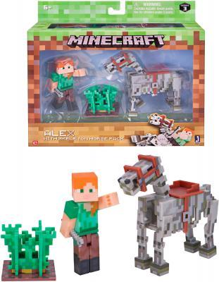 Игровой набор Minecraft Алекс с скелетом лошади 6 предметов Т59993 игрушка minecraft набор алекс с скелетом лошади игровой набор
