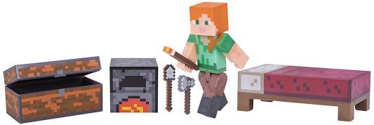 """Игровой набор Minecraft """"Майнкрафт"""" - Алекс с набором для выживания 4 предмета"""