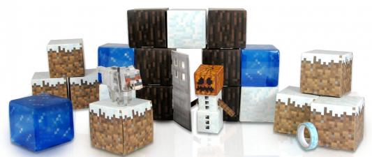 Конструктор Minecraft Снежный биом 48 элементов minecraft игровой конструктор из бумаги снежный биом 48 деталей