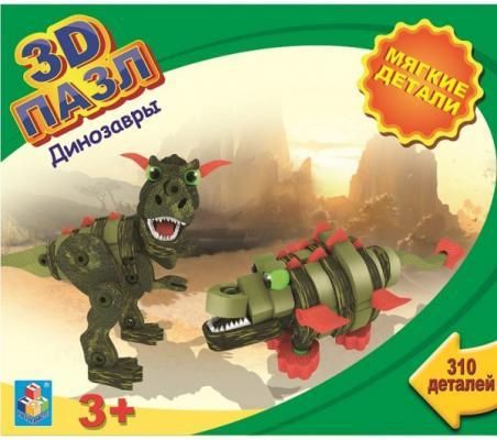 Пазл 3D 1toy Динозавры 310 элементов 3d пазл птеранодон pandapuzzle