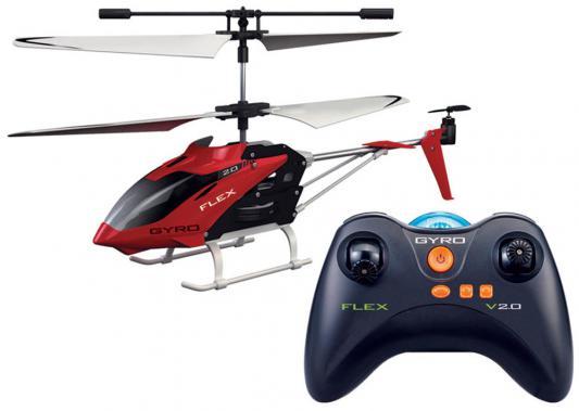 Вертолёт на радиоуправлении 1toy GYRO-Flex пластик от 14 лет красный Т57269 игрушка 1toy gyro flex вертолет с гироскопом т57269