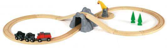 """Подарочный набор Brio """"Погрузка горных пород"""" с поездом на батарейках,горой с туннелем,краном на магните и аксесс-ры"""