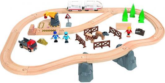 """Подарочный набор Brio """"Загородная поездка"""",поезд-экспресс без функций,грузовик,кран на магнитах,аксесс-ры"""