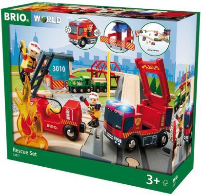 Набор Brio Пожарная команда спасателей с 3-х лет 33817 каталки игрушки brio вертолет