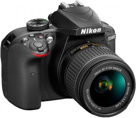Зеркальная фотокамера Nikon D3400 18-55mm 24.2Mp черный
