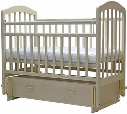 Купить Кроватка с маятником Топотушки Лира-7 (арт. 30/слоновая кость), массив березы, Кроватки с маятником