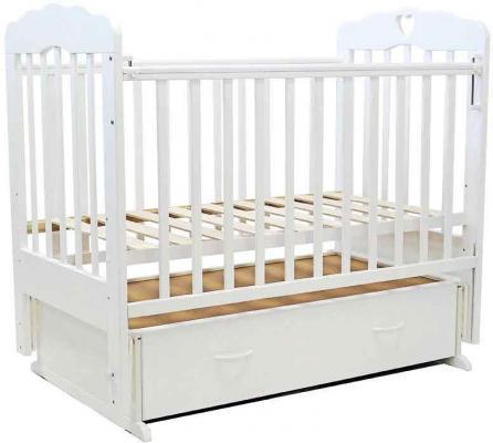 Кроватка с маятником Топотушки Виолетта-6 (арт. 15/слоновая кость с сердечком) кроватка papaloni винни 120х60см с маятником слоновая кость