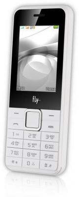 """Мобильный телефон Fly FF246 белый 2.4"""" 32 Мб"""