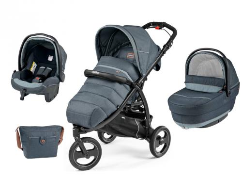 Коляска 3-в-1 Peg-Perego Book Cross Set XL Elite (blue denim) peg perego n xl pr v tf bor sunset